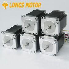 5pc hot nema 23 stepper motors 270oz.in 19kg.cm cut mill engrave 6wires 3A