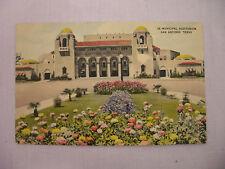 VINTAGE LINEN POSTCARD OF THE MUNICIPAL AUDITORIUM IN SAN ANTONIO, TEXAS 1977