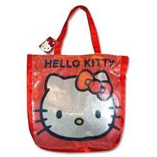 "SANRIO HELLO KITTY RED SEQUIN TOTE BAG 13""X12""X3"" GIRL SHOPPING BAG  MUST L@@K"