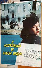 soggettone originale IL MATRIMONIO DI MARIA BRAUN Fassbinder Schygulla 1979