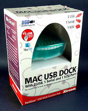 new sealed PortGear Xircom MAC USB DOCK PGMFHUB Serial & SCSI (25 pin)
