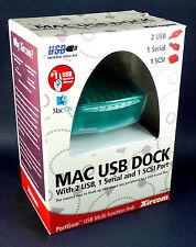 new sealed PortGear Xircom MAC USB DOCK PGMFHUB Serial & SCSI (25 pin) TORN BOX