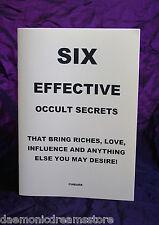 SIX EFFECTIVE OCCULT SECRETS  - Finbarr, Magic. Occult Grimoire. Magick. 6