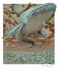 MINT & SIGNED Emek WHALE (Decemberists) Art Print Poster 633/650