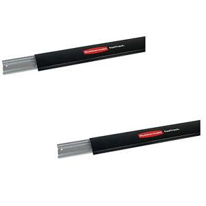 "Rubbermaid 1784415 FastTrack 48"" Horizontal Wall Mounted Storage Rail (2 Pack)"
