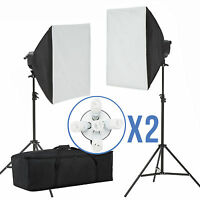 2000W Photo Studio Video Photography Softbox Light Stand Continuous Lighting Kit
