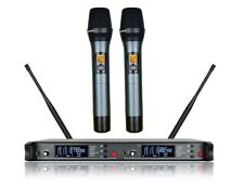 Wireless Microphone System Professional Uhf 2 Cordless Microphones for Singing
