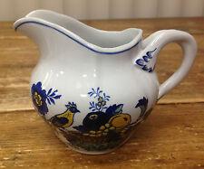 Spode Blue Bird England Fine Stone Ware Yellow S3274 Asian Creamer Flowers