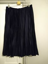 Lucia Navy Pleated Skirt Size GB22