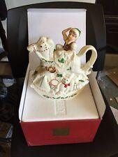 Lenox Christmas Holiday Elf & Rocking Horse Toy Shop Tea Pot
