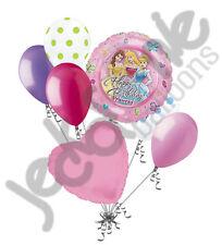 7 pc Disney Princess Balloon Bouquet Decoration Happy Birthday Belle Cinderella