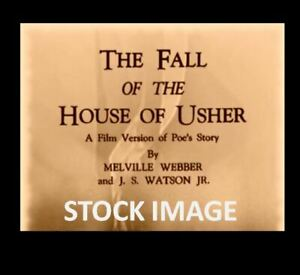 Vintage 1 x 250 Reel 8 mm movie FALL OF THE HOUSE OF USHER - 1928