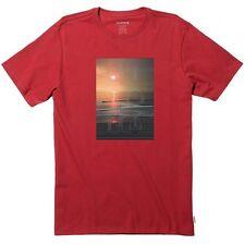 Nixon Men Costa Red Short Sleeve Large (L) T-Shirts S2411