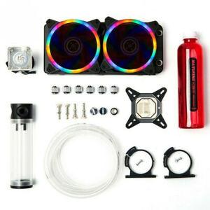 PC Liquid Water Cooling Kit 240mm Radiator Pump Reservoir CPU Block Tube NEW
