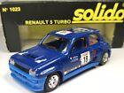 Vintage Solido No1023 Renault 5 Turbo In Blue In Original Box