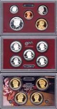2010 U. S. Mint SILVER PROOF SET 14 Coins w/Quarters & President $1 w/box & COA