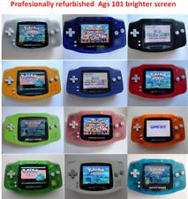 Backlit Nintendo GBA Game boy Advance Custom Backlight - Glacier ags 101 brighte