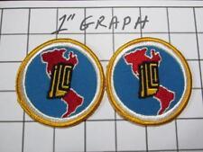 """Pair Vintage Company Logo Patches - """"J L C I"""" - NOS Mint"""