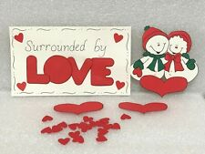 SURROUNDED BY LOVE SNOWMAN HEARTS Die Cut Scrapbook Embellishment Paper Piecing