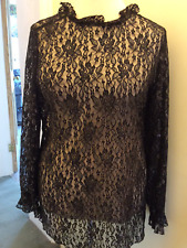sheego @ Kaleidoscope Size 18 Black Silver Lace TOP Evening Party Sparkle £45