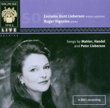 Songs Mahler, Handel & Peter Lorraine Hunt Lieberson CD Wigmore Hall NEW