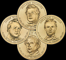 """A 2010 Presidential Dollar COMPLETE 4 Coin Set """"Brilliant Uncirculated"""" COINS"""