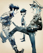 "133 Gorillaz - English Virtual Band Damon Albarn Jamie Hewlett 14""x17"" Poster"