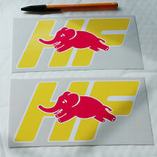 Lancia HF 1 Paire Autocollant Decal DELTA INTEGRALE TURBO Elephant 170 mm W x 90 mm H.