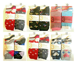 New 12 Pair Womens Socks Size 4-7 Cotton Rich Ladies Sock For Christmas  LOT