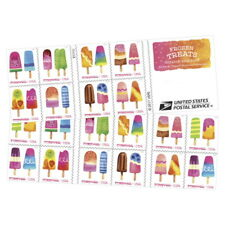 USPS New Frozen Treats Booklet of 20