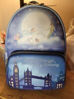 NWT Loungefly Disney Peter Pan Second Star Glow In Dark Mini Backpack IN HAND!