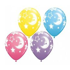 "Moon & Star Latex Balloons Baby Shower Decor Hospital Welcome Home Gift  11"" x10"