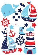 Sail Boats Nautical Sailing Boats Nursery Wall Stickers