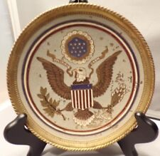 SEAL OF USA VINTAGE BRASS AMERICAN EAGLE HAND MADE PLAQUE