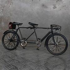 XL Blechmodell Tandem Fahrrad 36cm schwarz Metallmodell Blech Metall Hochzeit
