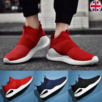 UK Mens Slip On Trainers Breathable Sport Shoes Jogging Sneaker Comfy Shoes Size