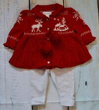 Ralph Lauren Baby Girl Designer Jumper Next Leggings 0-3 Month
