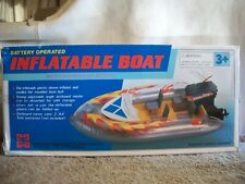 Battery Operated Inflatable Boat Raft with Detachable Outboard Boat Motor