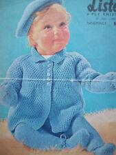 Girls Boys Vintage MATINEE COAT HAT LEGGINGS KNITTING PATTERN 4 ply 21 in 6 -12m