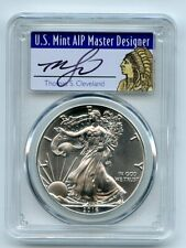 2016 (P) $1 American Silver Eagle 1oz PCGS MS70 Thomas Cleveland Native