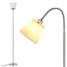 [lux.pro]® Klassische Stehleuchte 160cm Chrom Stehlampe Design Schwenkbar Weiß