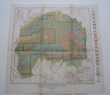 Old 1898 - BATTLEMENT MESA FOREST RESERVE - USGS MAP - Colorado - TIMBER