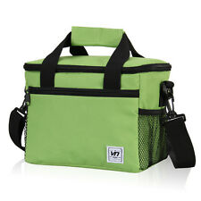 Thermal Lunch Bag Cooler 9-Can Storage Box Picnic Insulated Tote Shoulder Kit