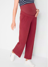 Bonprix Red Maternity Over Bump Pregnancy Trousers Size 10 / 12 NEW