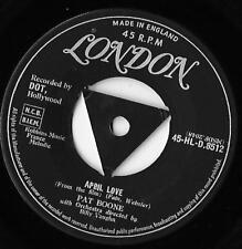 April Love / When The Swallows Come Back To Capistrano Pat Boone EX