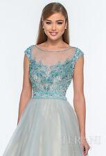 $598 NWT Princess Terani Couture Blue Ballgown Prom Formal Quinceanera Dress 2 4