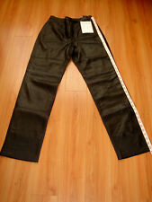 NWT Julie&Andrew Collection Womens Genuine Black Leather Pants size 6