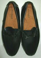 HENRY FERRERA Prince Men Black Ankle Buckle Size 12 Slip On Shoes DRIVER Loafers