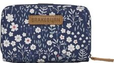 Brakeburn Navy Blue Ditsy Floral Purse Zip Closure Card Holder Coin