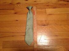 """Boys Youth clip on tie lot 14"""" Green tie"""